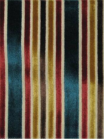 Multi Velvet Stripe Tabriz