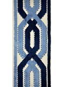 Navy Velvet Lattice Trim Tape