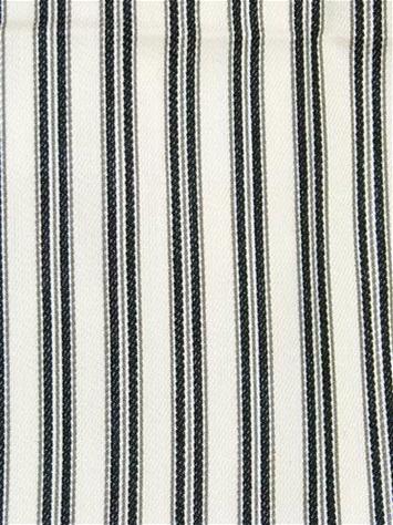 Drapery Upholstery Fabric 100/% Cotton Classic Ticking Stripe White Black