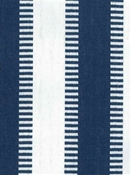 New Ladder Stripe Navy White Cotton