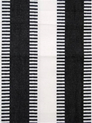 New Ladder Stripe Black White Cotton