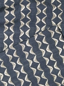 Notch Indigo Embroidered Fabric