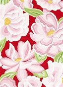 O'Keeffe Bloom Aurora Domino Fabric