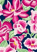 O'Keeffe Bloom High Noon Domino Fabric