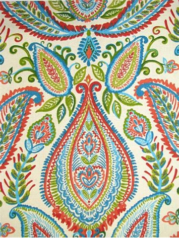 Ombre Paisley Poppy Robert Allen Fabric