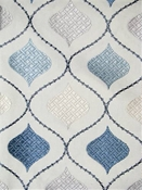 Orient Ocean Ogee Embroidery