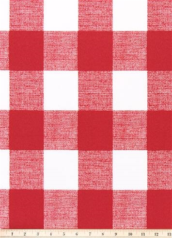 Outdoor Buffalo Check Red Outdoor Fabric By The Yard