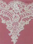 P2662 White Alencon Lace Trim