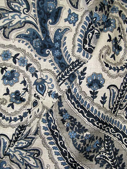 Plumtree Paisley Ink Waverly Fabric