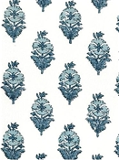 Poppy Print Old Blues White