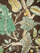 Ravello Chestnut Jacobean Fabric