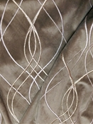 Rialto 196 Linen Embroidered Fabric