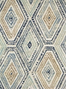 Ricochet Bluestone Medallion Fabric