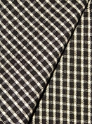 Roe Licorice Check Fabric