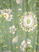 Roundelay Spruce Floral Fabric