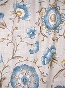 Roundelay Stone Floral Fabric