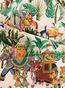 Royal Parade Emerald Asian Fabric
