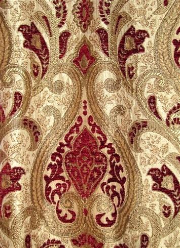 Saxon 101 Crimson Upholstery Fabric Tapestry Fabric