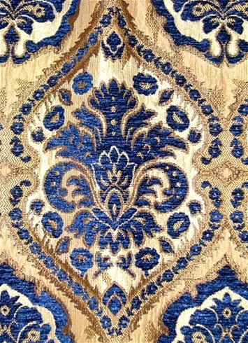 Saxon 1231 Navy Upholstery Fabric Tapestry Fabric