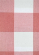 Seaside Coral Plaid Fabric