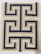 Seville Navy Embroidered Tape