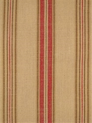 Soiree Antique Red Stripe Fabric