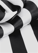 Low Luster Satin Stripe Black White