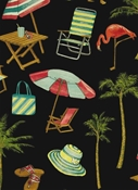 Outdoor Fabric Sunny Isle Midnight