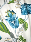 Sylvie 504 Azure Botanical Fabric