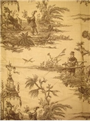 Schumacher Fabric Tales of the Orien Sepia
