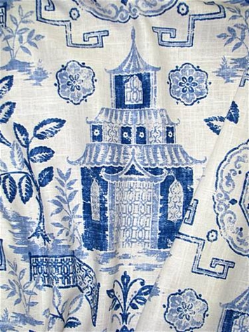 Teahouse Bluestone Chinoiserie Fabric By Style Fabric