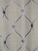 Tramore 145 Travertine Embroidered Fabric