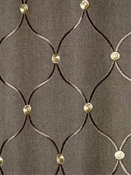 Tramore 619 Truffle Embroidered Fabric