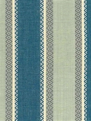 Valencia Stripe Blue Aqua Cotton Fabric