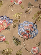 Wheaton 100 Multi Jacobean Embroidery