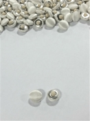 Light Ivory Satin Covered Canvas Back  Buttons