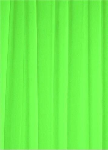 Neon Green Chiffon Fabric Bridal Fabric