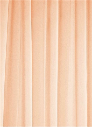 Peach Chiffon Fabric Bridal Fabric