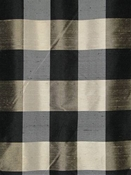 Silk Buffalo Check Black - Taupe