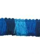 Sunbrella Color Block Fringe Blue