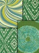 Green Robert Allen Fabric