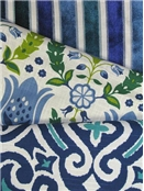Robert Allen Ultramarine & Emerald Fabric