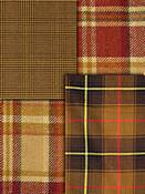 Red & Amber Plaid Fabric