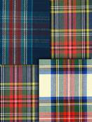 Blue & Red Plaid Fabric