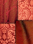 Red Damask Fabric