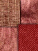 Red Coral Herringbone Fabric