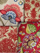 Red Jacobean Fabrics