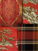 Red Southwest Lodge Fabrics