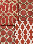 Red Trellis Fabric