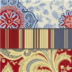 Red and Blue Colored Fabrics